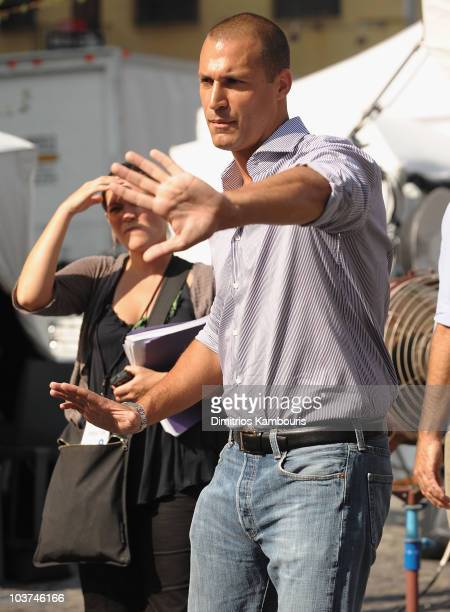 Photographer Nigel Barker attends the kick off for the Nine West's Runway Relief Program in the Meatpacking District on August 31 2010 in New York...
