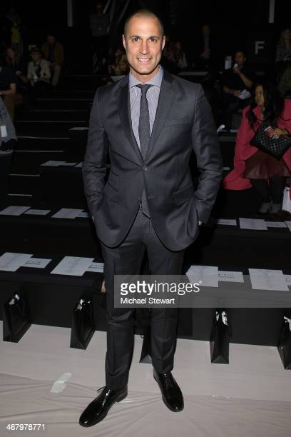 Photographer Nigel Barker attends the Mara Hoffman show during MercedesBenz Fashion Week Fall 2014 at The Salon at Lincoln Center on February 8 2014...