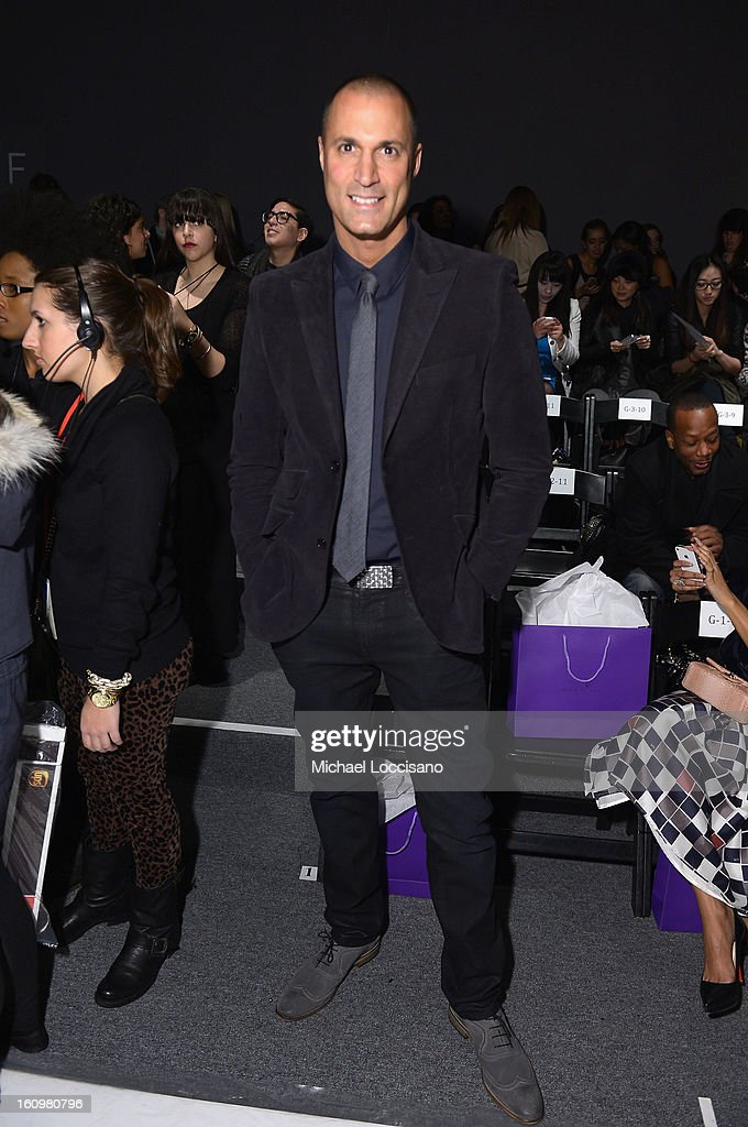 Photographer Nigel Barker attends the Noon By Noor Fall 2013 fashion show during Mercedes-Benz Fashion at The Studio at Lincoln Center on February 8, 2013 in New York City.