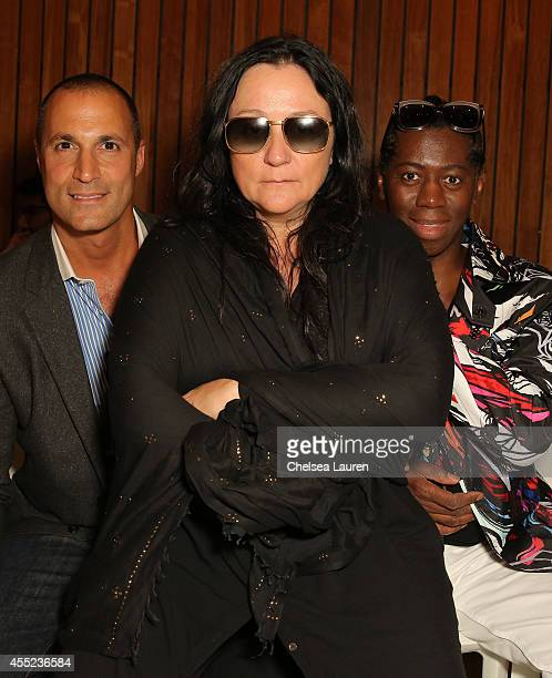 Photographer Nigel Barker publicist Kelly Cutrone and TV personality Miss J Alexander attend the Maria Ke Fisherman fashion show at The Standard...