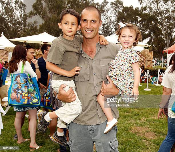 Photographer Nigel Barker with son Jack and daughter Jasmine attend the 21st A Time For Heroes Celebrity Picnic sponsored by Disney to benefit the...