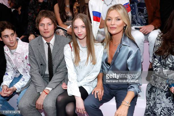 Photographer Nikolai von Bismarck Kate Moss and her daughter Lila Moss attend the Dior Homme Menswear Spring Summer 2020 show as part of Paris...