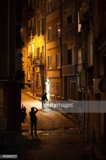 photographer of dark alleys. - ugly cat stock photos and pictures