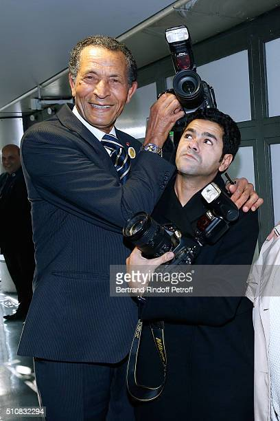 Photographer of Kings of Morocco Maradji and Actor Jamel Debbouze attend King Mohammed VI of Morocco and French President Francois Hollande present...