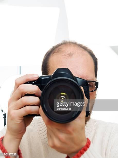 Fotograf auf Fotos