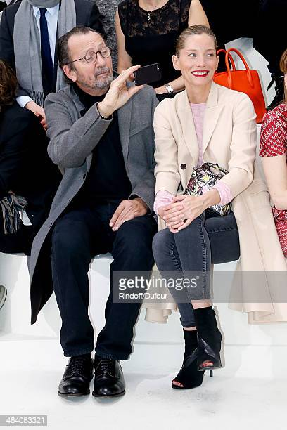 Photographer Paolo Reversi and guest attend the Christian Dior show as part of Paris Fashion Week Haute Couture Spring/Summer 2014 on January 20 2014...