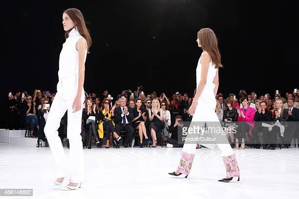 Photographer Paolo Reversi Carla Bruni Sarkozy Katia Toledano her husband CEO Dior Sidney Toledano actresses Marion Cotillard Dakota Fanning guest...