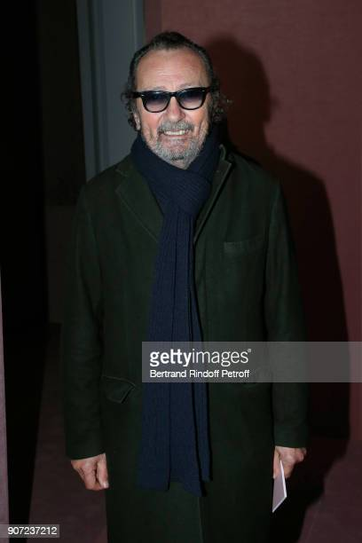Photographer Paolo Roversi attends the Berluti Menswear Fall/Winter 20182019 show as part of Paris Fashion Week on January 19 2018 in Paris France