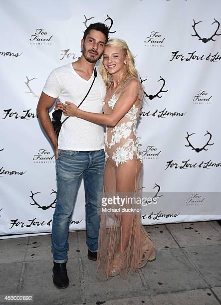 Photographer Pat Moss and Rachel Yampolsky attend For Love and Lemons annual SKIVVIES party cohosted by Too Faced and performance by The Shoe at The...