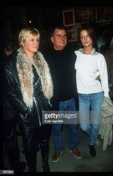 Photographer Patrick Demarchelier stands with Patty Hanson and Model Eva Gerzigova at the party for Demarchelier's latest book Patrick Demarchelier...