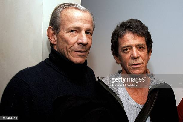 Photographer Peter Beard and Lou Reed attend the opening of Lou Reed NY photography exhibit at the Gallery at Hermes on January 19 2006 in New York...