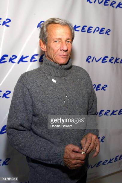 Photographer Peter Beard attends the 2nd benefit photo auction for Riverkeeper at Boylan Studios on November 16 2004 in New York City