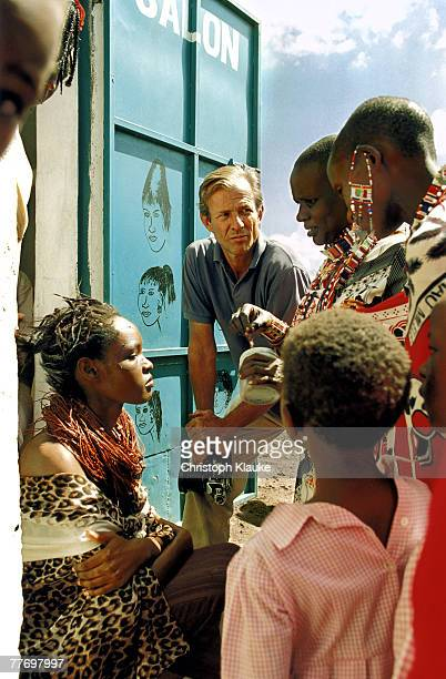 Photographer Peter Beard is photographed for Amica Magazine in 1996 in Kenya