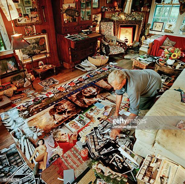 Photographer Peter Beard is photographed for Jonathan Becker's book 'Studios by the Sea' in September 2001 at home in Montauk New York PUBLISHED IN...