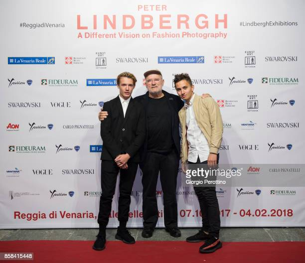 Photographer Peter Lindbergh and his sons attend the opening gala of 'A Different Vision On Fashion Photography' By Peter Lindbergh Exhibition at...