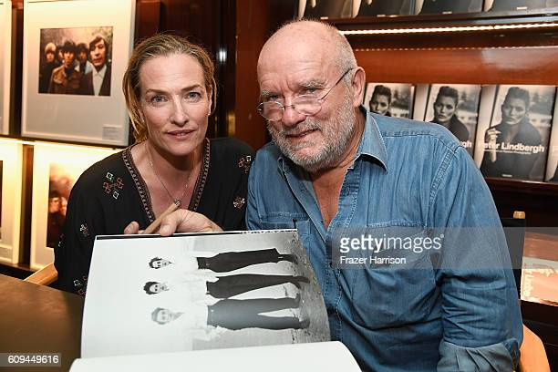 Photographer Peter Lindbergh and model Tatjana Patitz attend photographer Peter Lindbergh Book Signing for 'A Different Vision On Fashion...
