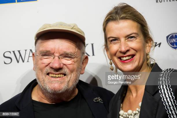 Photographer Peter Lindbergh and the Director of Kunsthal Museum of Rotterdam Emily Ansenk attend the opening gala of 'A Different Vision On Fashion...