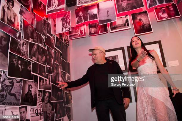 Photographer Peter Lindbergh and top model Mariacarla Boscono attend the opening gala of 'A Different Vision On Fashion Photography' By Peter...