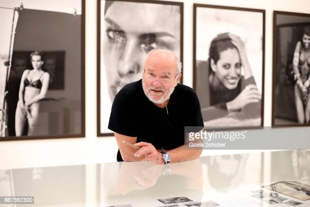 Photographer Peter Lindberg during his exhibition 'From Fashion to Reality' at Kunsthalle der HypoKulturstiftung on April 11 2017 in Munich Germany...
