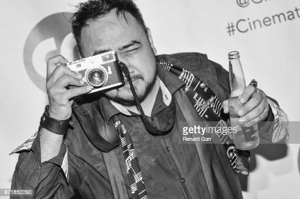Photographer Philip Cuenco attends the Launch Of Cinematic Pictures Publishing's Men Of Science Fiction at Cinematic Pictures Gallery on April 22...