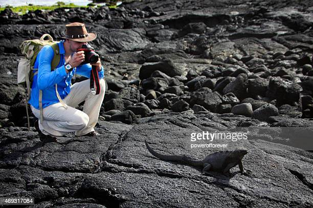 Photographer Photographing Wildlife in the Galapagos