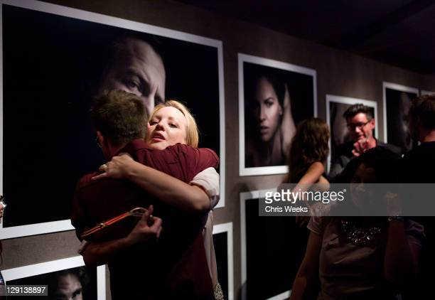 """Photographer Randall Slavin and actress Wendi McLendon-Covey attend Charlize Theron Africa Outreach Projects premiere of Randall Slavin's """"Reach: 24..."""