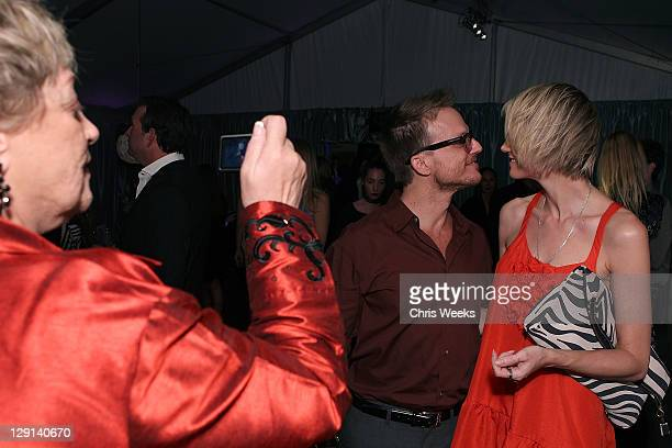 """Photographer Randall Slavin attends Charlize Theron Africa Outreach Projects premiere of Randall Slavin's """"Reach: 24 Portraits"""" at Annenberg Space..."""