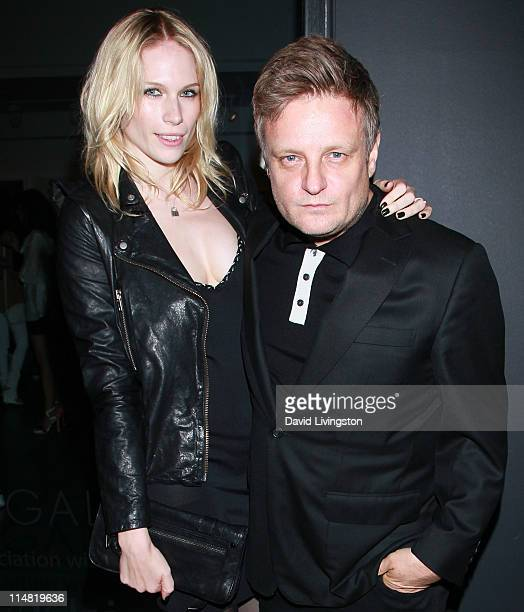 Photographer Rankin and wife model Tuuli Shipster attend the Open Rankin photographer exhibition US gallery launch party at Rankin Gallery on May 26...