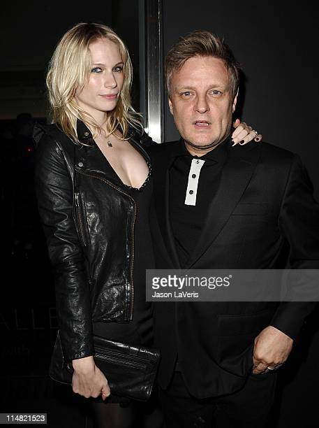 Photographer Rankin and wife Tuuli Shipster attend the Open Rankin photographer exhibition and US gallery launch party at Rankin Gallery on May 26...