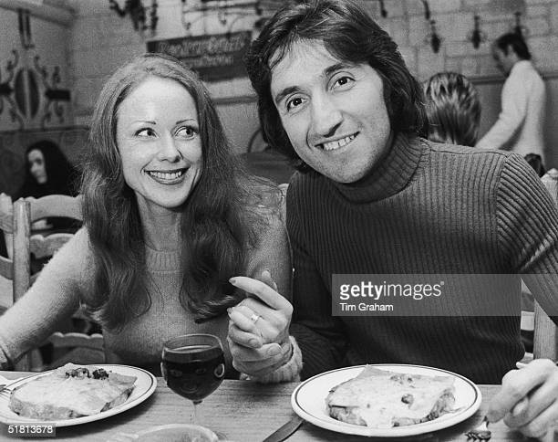 Photographer Ray Bellisario and his fiance Annie Collins enjoy a meal in a restaurant 3rd October 1972