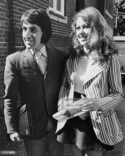 Photographer Ray Bellisario and his fiance Annie Collins outside Haywards Heath Magistrates Court 9th September 1971 Bellisario is bringing a private...