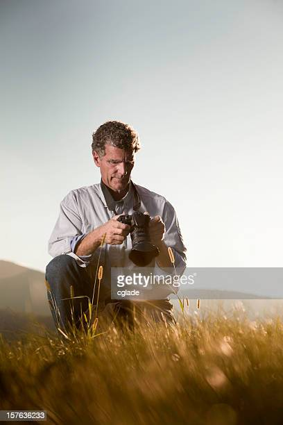 Photographer Reviewing the Image Vertical