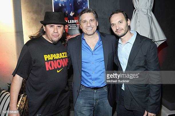 Photographer Ricardo Mendoza director Kevin Mazur and producer Jeff Vespa attend the after party for the world premiere of $ELLEBRITY during the 2012...