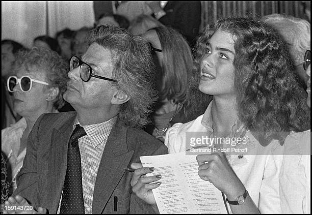 Photographer Richard Avedon and Brooke Shields attend the presentation of Yves Saint Laurent's Fall Winter 1980 1981 fashion collection
