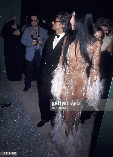Photographer Richard Avedon and singer Cher attend The Metropolitan Museum of Art's Costume Insitute Gala Exhibition Romantic and Glamorous Hollywood...
