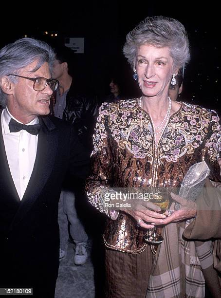 Photographer Richard Avedon and socialite Marella Agnelli attend amfAR's First Annual Masquerade Gala to Observe the Second Annual World AIDS Day on...