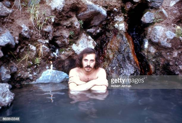 Photographer Robert Altman relaxes in the Jemez Hot Springs circa July 1969 in Los Alamos New Mexico