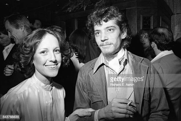 Photographer Robert Mapplethorpe and woman named Lisa attend a Fran Lebowitz party New York circa 1980