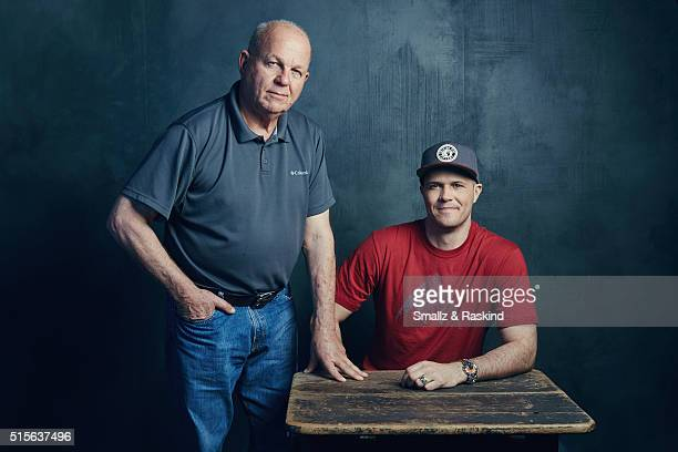 Photographer Robert Oelman and director Jake Oelman of 'Learning To See' are photographed in the Getty Images SXSW Portrait Studio powered by Samsung...