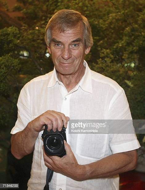Photographer Robert Whitaker poses during the events to mark the 40th anniversary of the Beatles' 1966 visit to Tokyo at the Capitol Tokyu Hotel on...