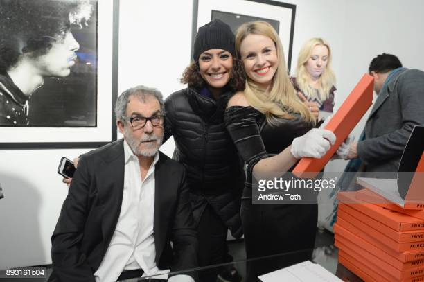 Photographer Robert Whitman Samera Abed and a guest attend Robert Whitman Presents Prince 'Pre Fame' Private Viewing Event Exclusively On Vero on...
