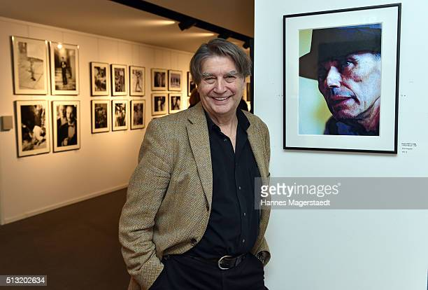 Photographer Roger Fritz during his vernissage at Burda Verlag on March 1 2016 in Munich Germany
