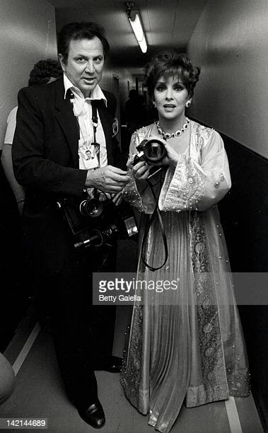 Photographer Ron Galella and actress Gina Lollobrigida attend the of Bob Hope's Television Special 'Women I Love Beautiful But Funny' on February 21...
