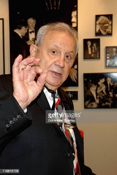 Photographer Ron Galella attends the opening of Warhol by Galella at Le Bon Marche Paris on February 28 2008 in Paris France