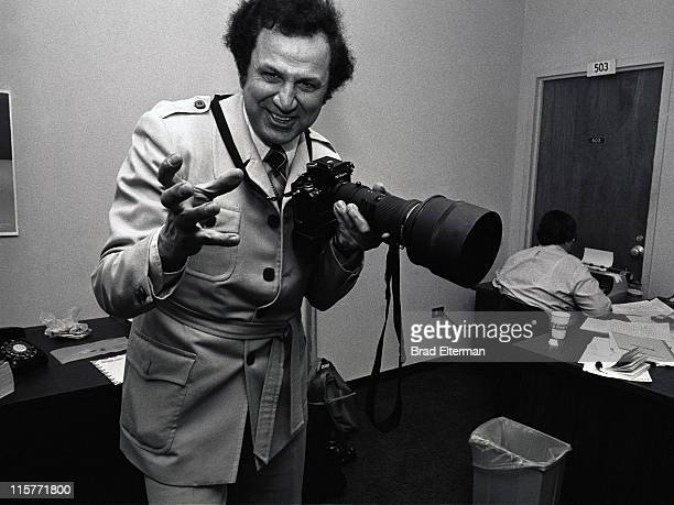 Photographer Ron Galella backstage at a Leif Garrett concert in Houston Texas **EXCLUSIVE**