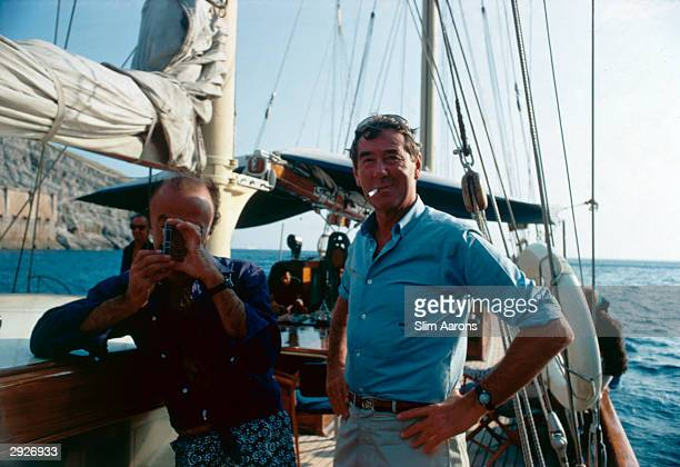 Photographer Slim Aarons on board a yacht off Capri Italy September 1968