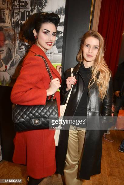Photographer Stefanie Renoma and her father Photographer/designer Maurice Renoma attend Maurice Renoma Tribute to Street Art Preview at Espace...