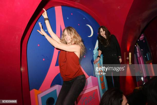 Photographer Stefanie Renoma and Tonya Kinzinger from Danse Avec les Stars attend 'Mecs A Poils' Stefanie Renoma Exhibition Party at Castel Club...