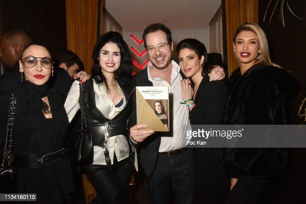 Photographer Stefanie Renoma Elsa Oesinger Mathieu Alterman Celine Mori and Melanie Dedigama from TV Secret Story attend 'Femmes Fatales ' Mathieu...