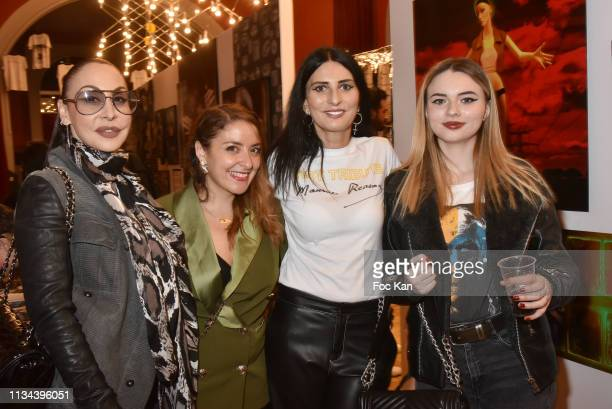 Photographer Stefanie Renoma influencer Mademoiselle Valerie Sylvie Ortega Munos and her Niece Ilona B attend Maurice Renoma Tribute to Street Art...